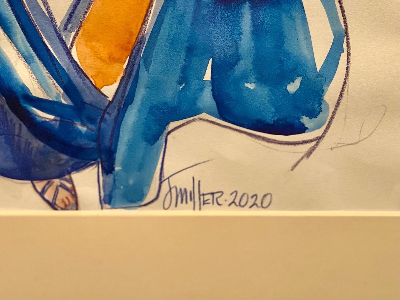 Blue taffeta signature