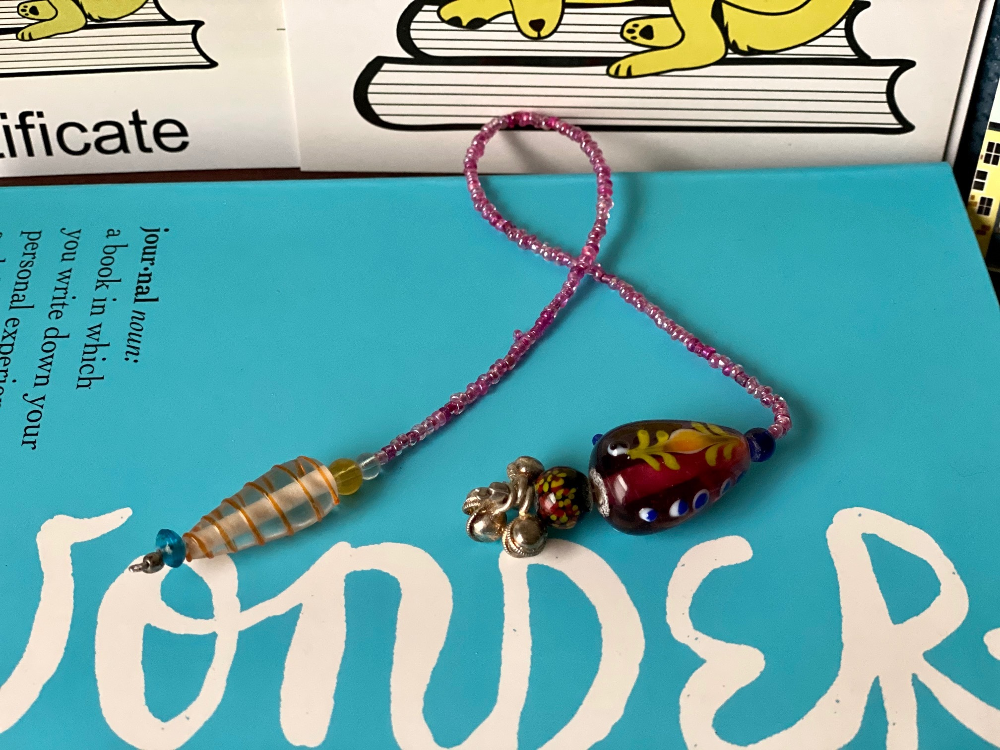 Glass bookmark
