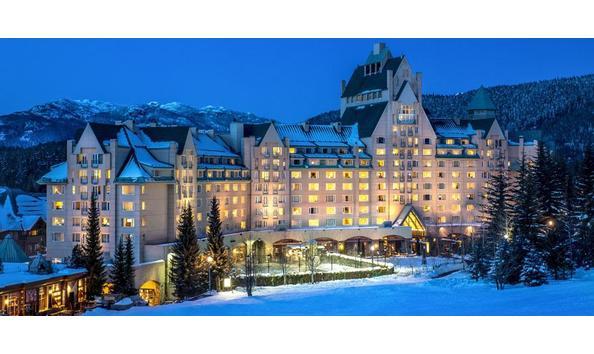 Big image pic fairmont chateau whistler evening snow