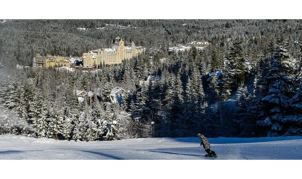 Big image pic fairmont chateau whistler snowboarder