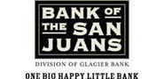 Sponsor logo bank of san juans logo