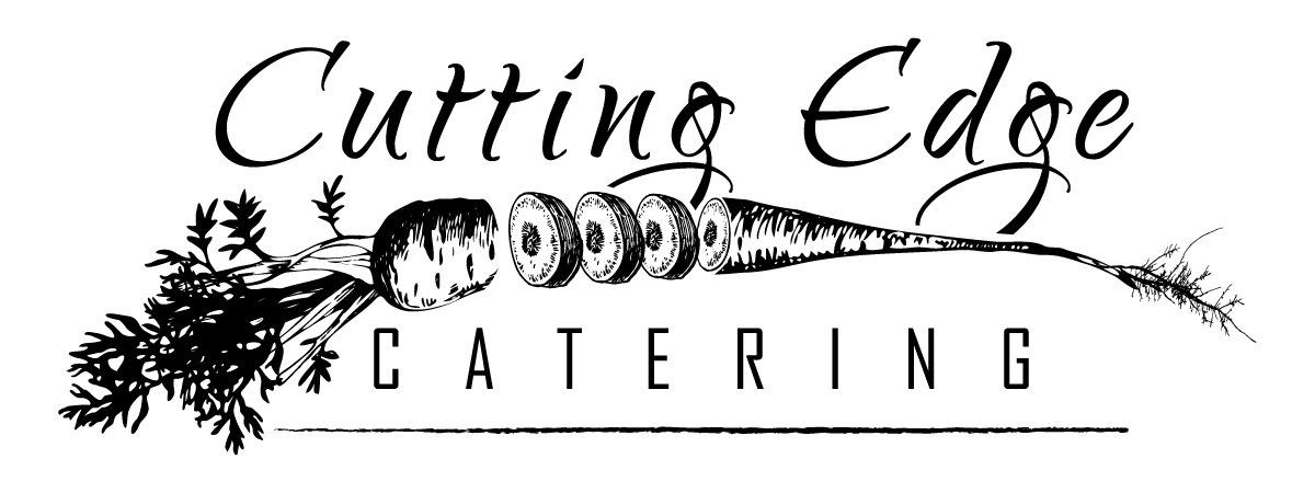 Cutting edge logo print