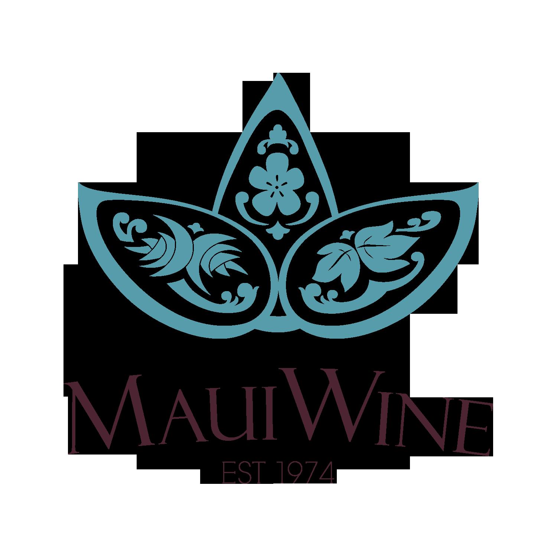Mauiwine logo blue darktext