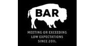 Sponsor logo bison bar golf sign page 0