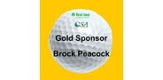 Sponsor logo golf ball template gold 1