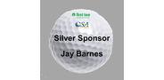 Sponsor logo golf ball template silver 1