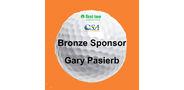 Sponsor logo golf ball template bronze 1