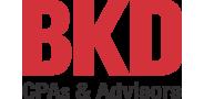 Sponsor logo bkd cpa red